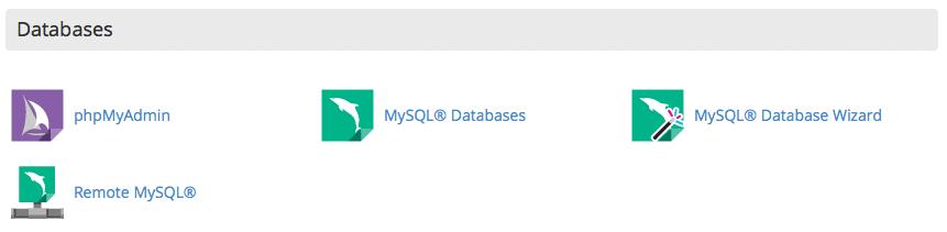 bases de datos cPanel